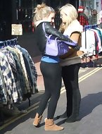 Hot bulky rump legal age teenagers in yoga pants!